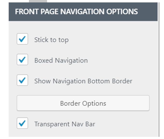 Front Page Navigation - Mesmerize - Knowledge Base