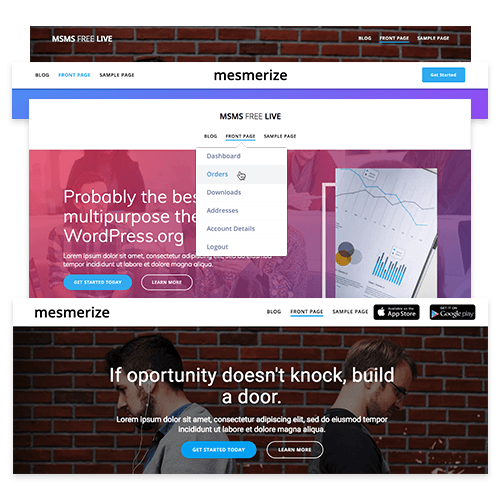 Mesmerize – Free WordPress Page Builder Theme