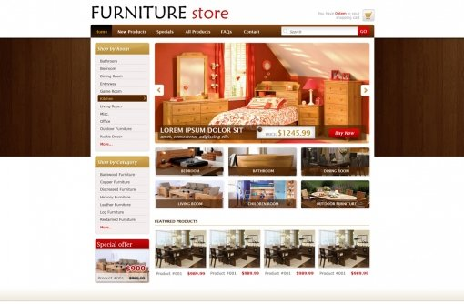 Website layouts that make a website experience memorable for Design store online