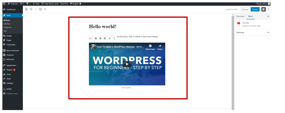How to Embed Video in WordPress the Easy Way - ColibriWP